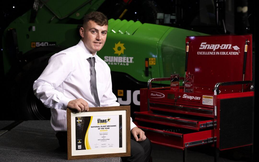 DEAN JOHNSTON RIDING HIGH AS HE'S AWARDED NATIONAL PLANT MECHANIC OF THE YEAR (LEVEL 2)