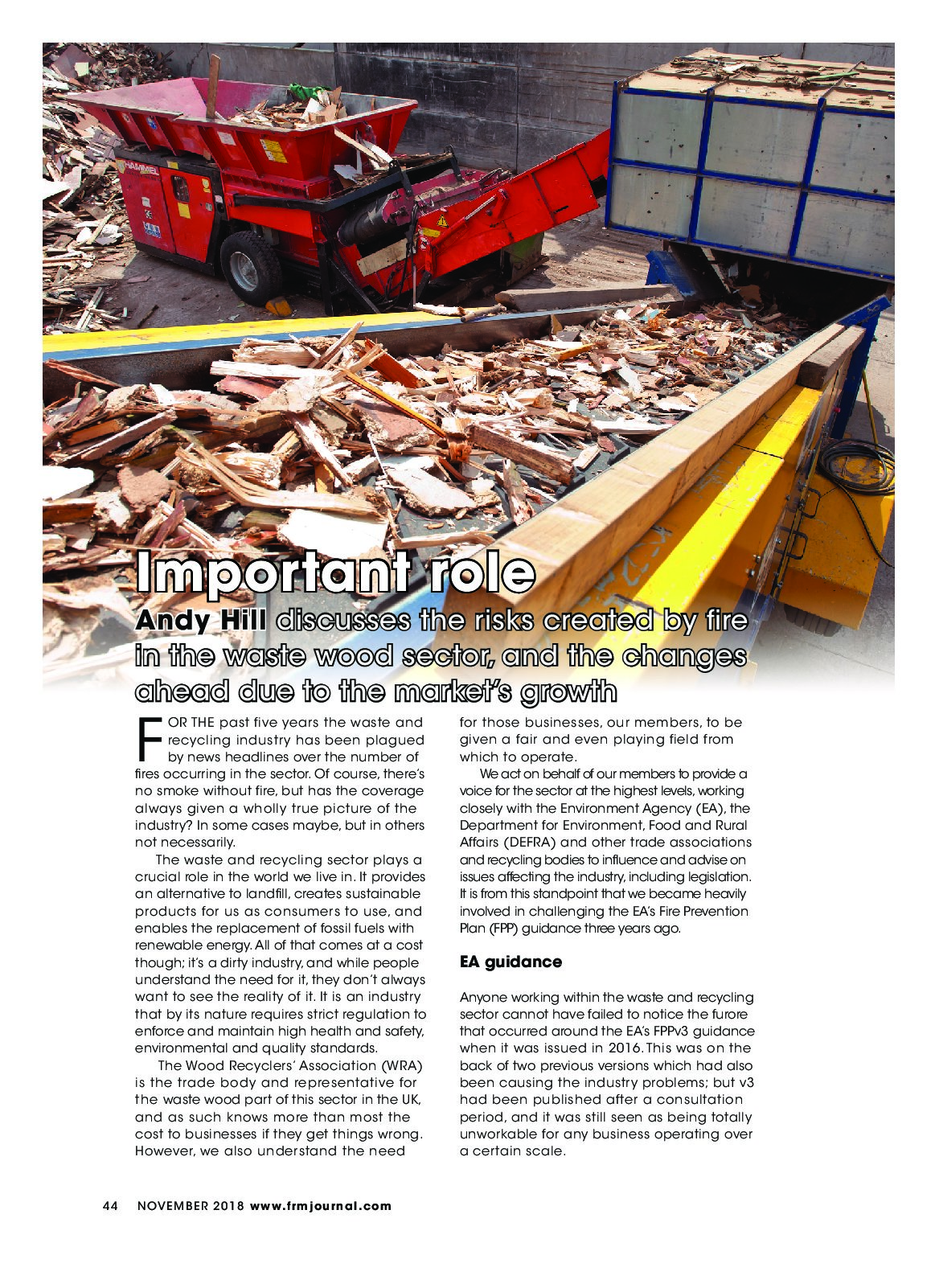 WRA features in Fire & Risk Management Magazine